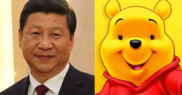 Chinese Dictator Xi Jinping And Winnie The Pooh
