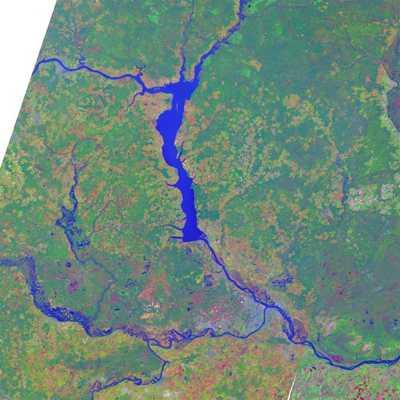 Puchezh Katunki Crater Russia Lansat 7 Image M