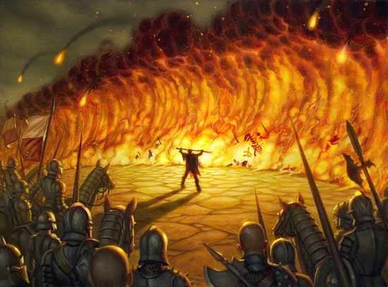 Wall Of Fire Art By Dan Dos Santos