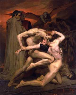 William-Adolphe Bouguereau %281825-1905%29 - Dante And Virgil In Hell %281850%29
