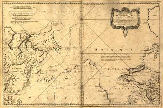 Bellin - Carte Reduite De L%27Ocean Septentrional