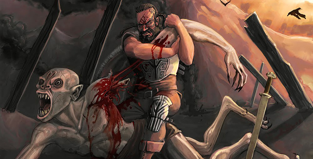 beowulfs first battle Into battle beowulf's ancient sword and for the first time in his life that famous prince a beaten warrior none of his comrades came to him.