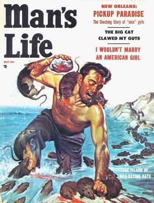 Man's Life - 1956 05 May - Cover By Wil Hulsey-8X6