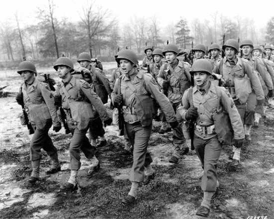 World War Two Soldiers Training