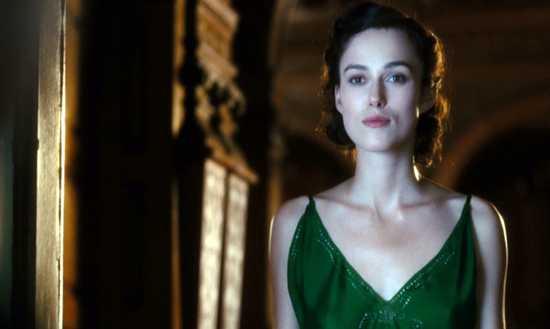 Atonement Keira-Knightley Green-Dress Neckline-Doorway