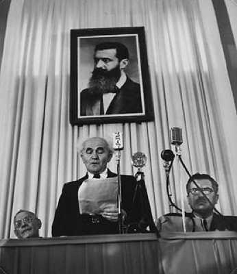 Bengurion1948-Staatsgruendung-M-Herzl-Bild-Frontal