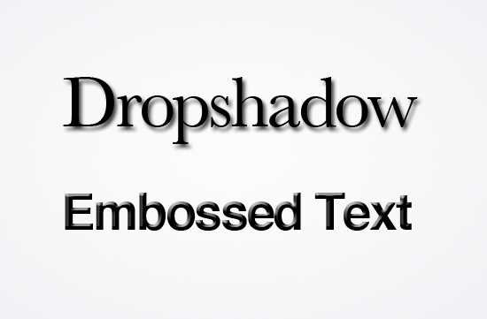 Dropshadowembossed
