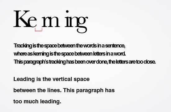 Kerningtrackingleading