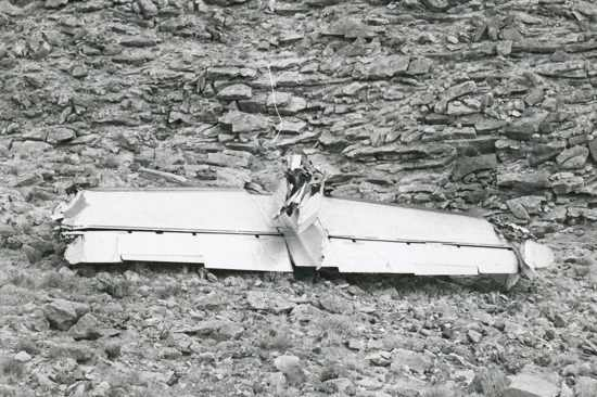 Severed Tail Of Twa Flight 2