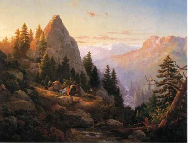 Thomas-Hill-Sugar-Loaf-Peak-El-Dorado-County-Oil-Painting