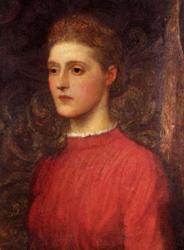 8 George Frederic Watts (English Artist, 1817-1904) Portrait Of A Lady