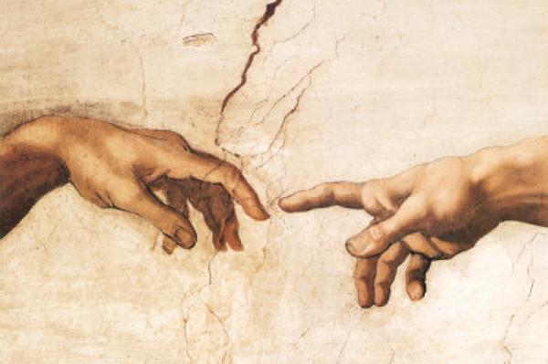Michelangelo-Buonarroti-Erschaffung-Adams-Ausschnitt1