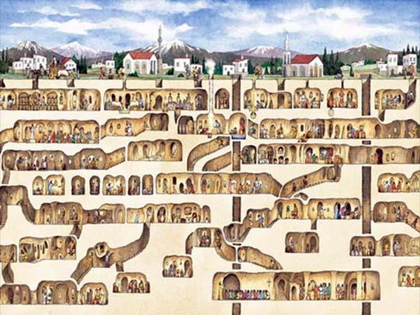 Amazing Underground Cities Listverse - Map of underground tunnels in the us