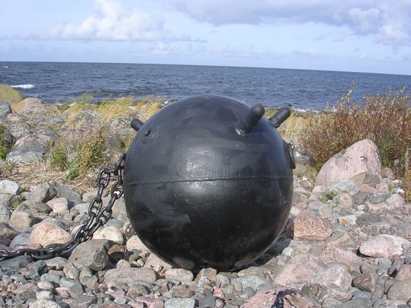 Naval Mine on Beach