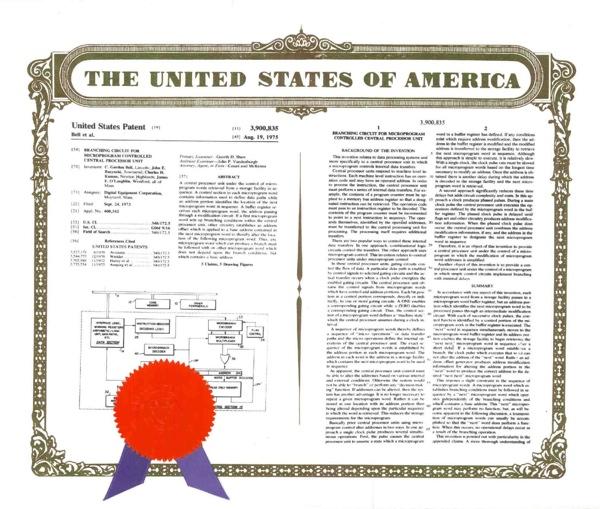 Branching-Circuit-Patent-3900835-1975