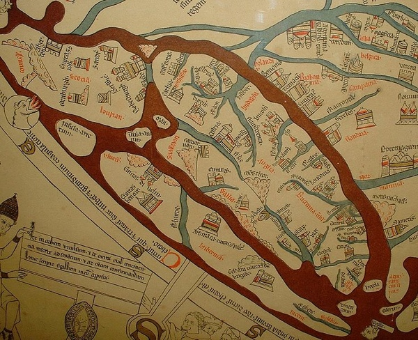 Hereford Mappa Mundi Detail Britain