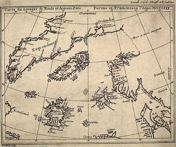 Map By Nicolo Zeno 1558-1
