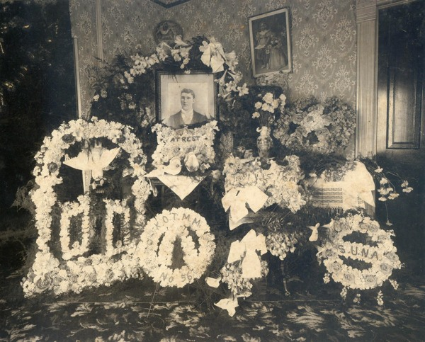 Funeral Flowers In Parlor
