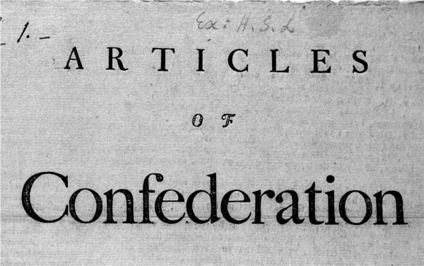 Articles Of Confederation Title