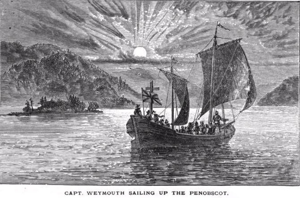 Captain George Weymouth Expedition In Maine