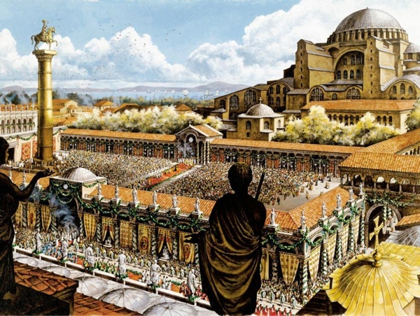 the architecture of the renaissance through the works of the romans byzantines and moslems Muslims were totally totally unknown to the romans, possibly imported from india through persia byzantines, ottomans and romans never move deeper into.