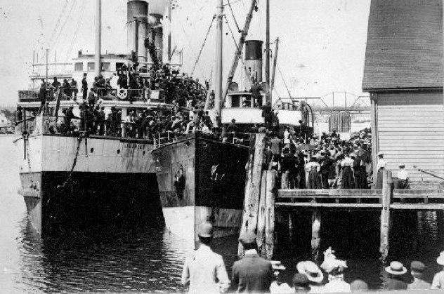 Islander (Steamship) Loading For Klondike 1897