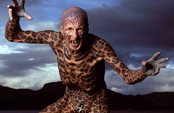Top 10 Most Tattooed People In The World Tom Leppard The Leopard Man