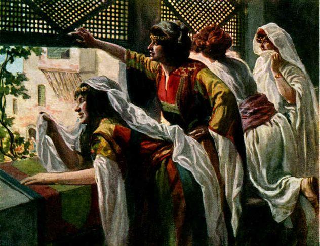 1.3-4 Deborah Women At A Lattice-Covered Window