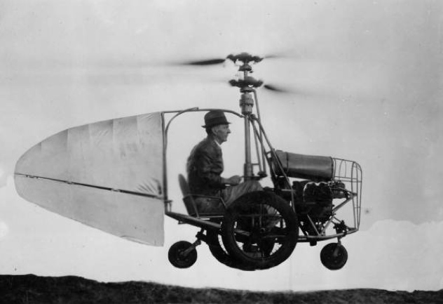 Jess Dixon In His Flying Automobile-1
