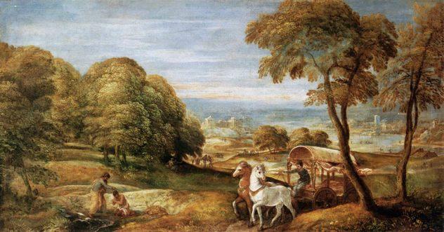 Lambert Sustris - The Baptism Of The Ethiopian Eunuch By The Deacon Philip - Wga21979