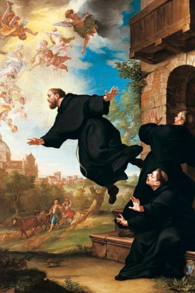 San Giuseppe Da Copertino Si Eleva In Volo Alla Vista Della Basilica Di Loreto