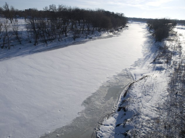 frozen red river