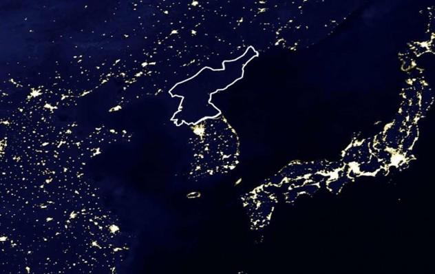 north korea satellite nasa lights OLD