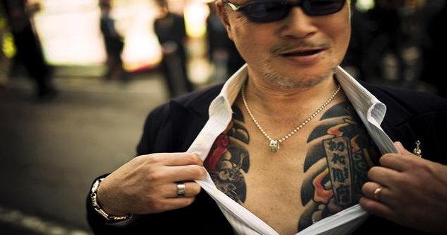 10 odd facts about the yakuza listverse for Chinese triad tattoo