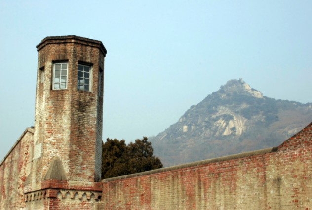 Watch tower overlooking mountain