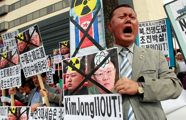 South Korean Conservative Protesters Rally Against North Korea