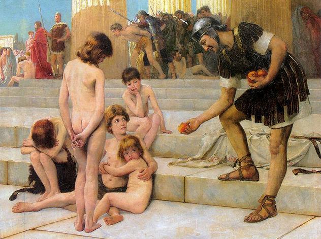 5_Charles_Bartlett_-_Captives_in_Rome,_1888