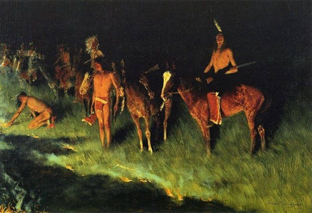800px-Frederic_Remington_The_Grass_Fire
