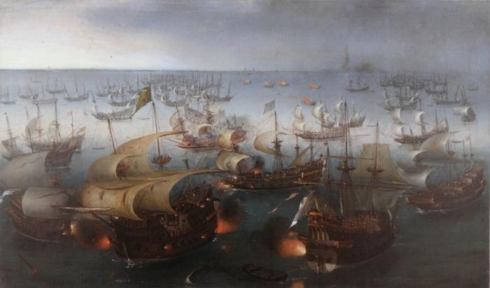 Vroom_Hendrick_Cornelisz_Battle_between_England_and_Spain_1601