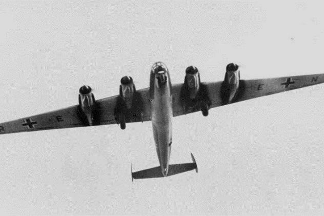Me 264 V1 Fernbomber, Aufklärer 1942. Werkfoto Messerschmitt (MBB) 2/264