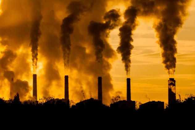 Smokestacks air pollution