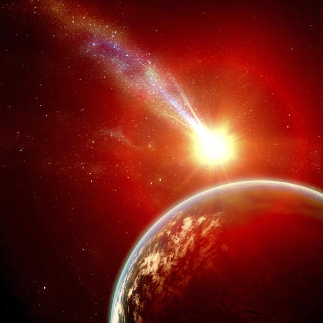 Asteroid towards earth