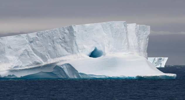 Tabular Iceberg Floating, Antarctic Peninsula, Antarctica