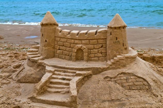 5 sand castle