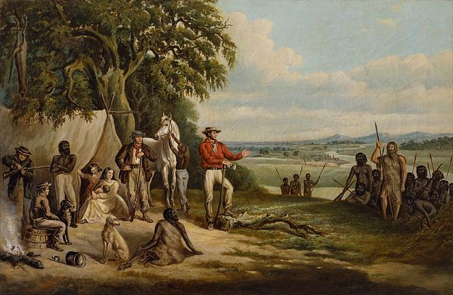 640px-Frederick_William_Woodhouse_-_The_first_settlers_discover_Buckley,_1861