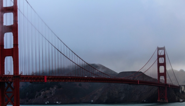 Golden Gate Bridge Foggy
