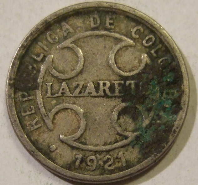 Colombia Leprosy Coin