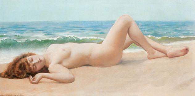 640px-Godward_Nu_Sur_La_Plage_(modern_nude)