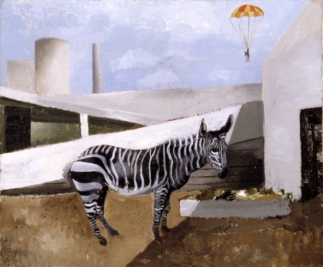Zebra and Parachute 1930 by Christopher Wood 1901-1930