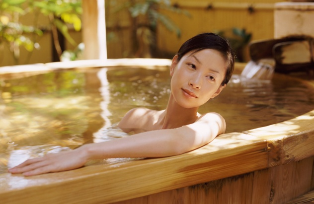 Asian Woman in Water